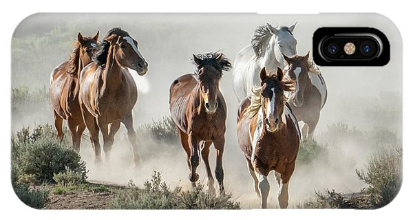 Racing To The Water Hole IPhone Case