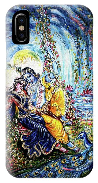 Radha Krishna Jhoola Leela IPhone Case