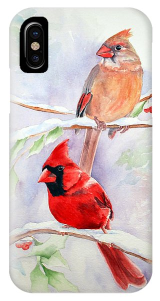Radiance Of Cardinals IPhone Case