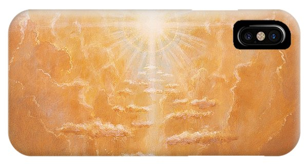 Christian Cross iPhone Case - Radiance  by Simon Cook