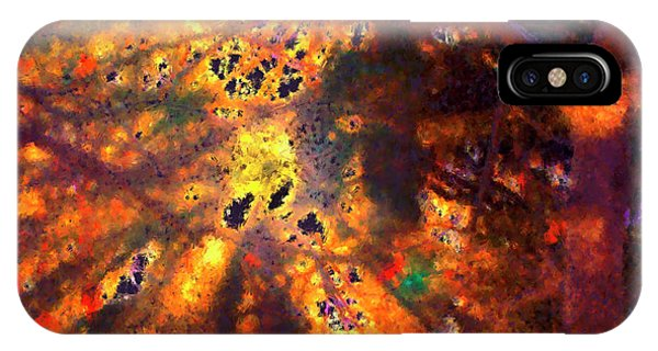 Radiant Ice Crystals - Winter Storm Abstract IPhone Case
