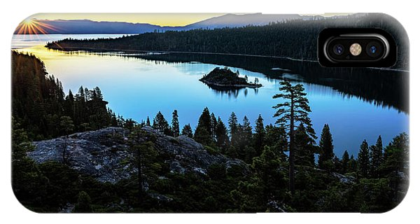 Radiant Sunrise On Emerald Bay IPhone Case