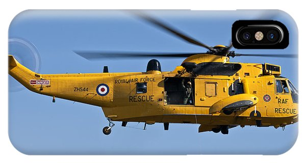 Raf Sea King Search And Rescue Helicopter 2 IPhone Case