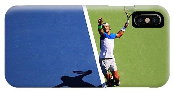 Venus Williams iPhone Case - Rafeal Nadal Tennis Serve by Nishanth Gopinathan