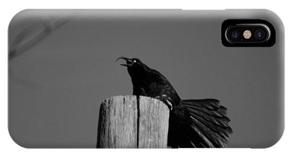 Raging Crow IPhone Case