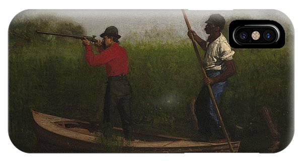 Shooting iPhone Case - Rail Shooting On The Delaware by Thomas Eakins