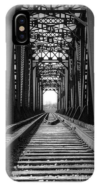 Railroad Bridge Black And White IPhone Case