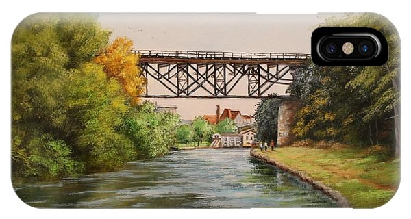 Railroad Bridge Over Erie Canal IPhone Case