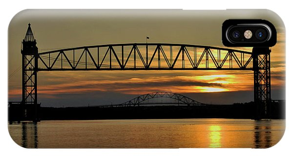 Railroad Bridge Over The Canal IPhone Case
