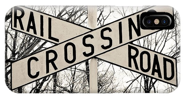 Railroad Signal iPhone Case - Railroad Crossing by Colleen Kammerer