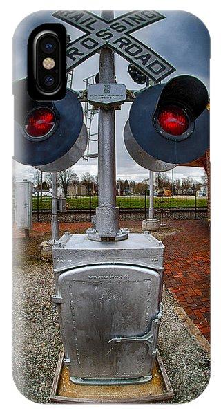 Railroad Crossing Signal IPhone Case