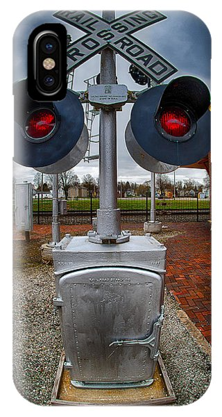 Railroad Crossing Signal IPhone Case