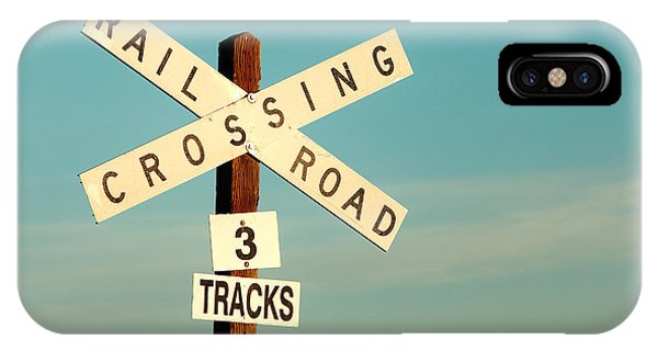 Road Signs iPhone Case - Railroad Crossing by Todd Klassy