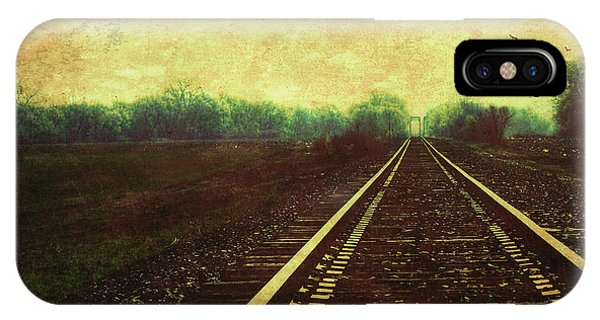 IPhone Case featuring the photograph Railroad Track Glow by Anna Louise