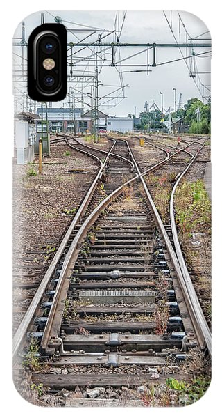 Railroad Signal iPhone Case - Railroad Tracks And Junctions by Antony McAulay