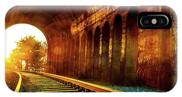 Railway Track Sunrise IPhone Case