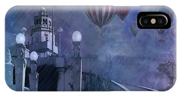 Rain And Balloons At Hearst Castle IPhone Case
