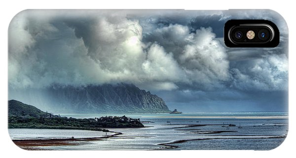 Rain Clearing Kaneohe Bay IPhone Case