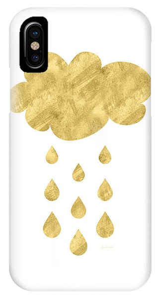 Winter iPhone Case - Rain Cloud- Art By Linda Woods by Linda Woods