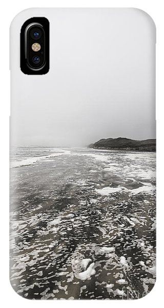 Shrouds iPhone Case - Rain Fog And Wind Seascape by Jorgo Photography - Wall Art Gallery