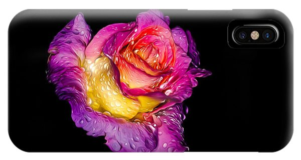 Rain-melted Rose IPhone Case