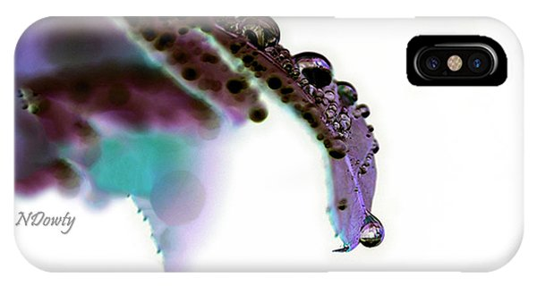 Rain On Rose Leaf Abstract IPhone Case