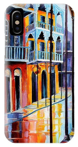French Impressionism iPhone Case - Rain On Royal Street by Diane Millsap