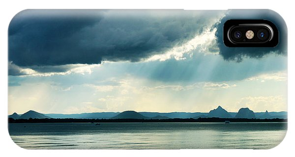 Rain On The Glass Mountains IPhone Case