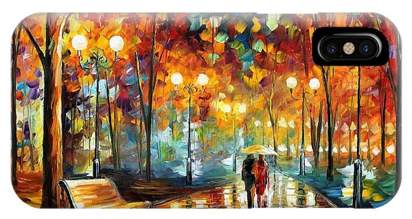 Afremov iPhone X Case - Rain Rustle by Leonid Afremov