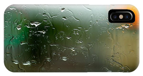 Cold Day iPhone Case - Rain Soaked Glass Window by Todd Klassy