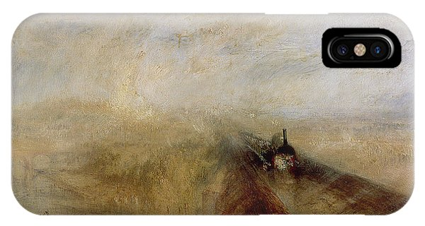 1851 iPhone X Case - Rain Steam And Speed by Joseph Mallord William Turner