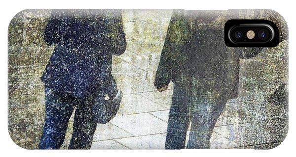 Rain Through The Fountain IPhone Case