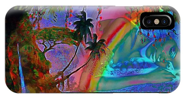 Rainboow Drenched In Layers IPhone Case