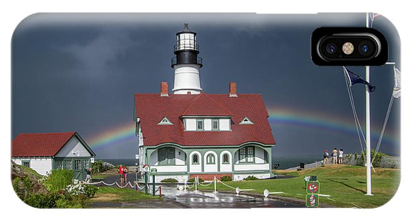 IPhone Case featuring the photograph Rainbow After The Storm by Darryl Hendricks