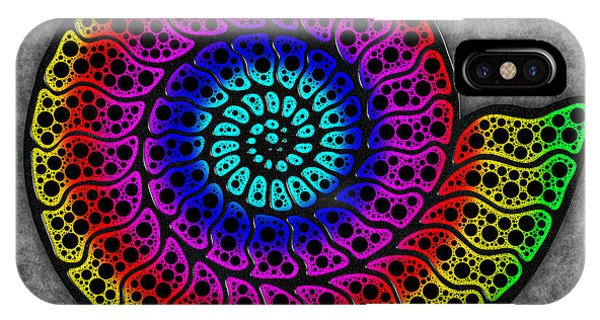 Rainbow Ammonite IPhone Case