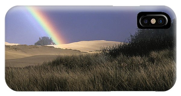 Rainbow And Dunes IPhone Case