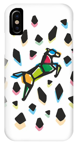 New Trend iPhone Case - Rainbow Anigami Horse by Julia Jasiczak