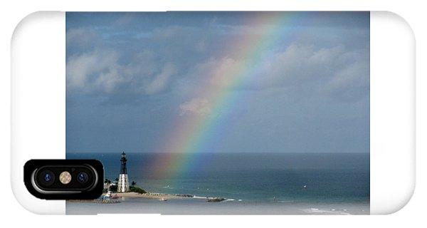 Rainbow At Lighthouse IPhone Case