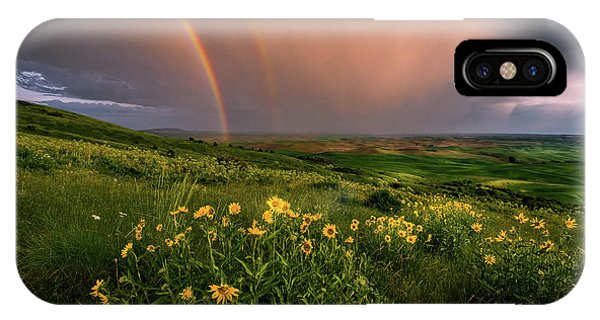 Rainbow At Steptoe Butte IPhone Case