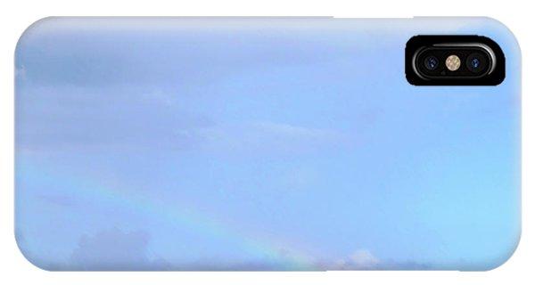 IPhone Case featuring the digital art Rainbow At The Beach 1 by Francesca Mackenney