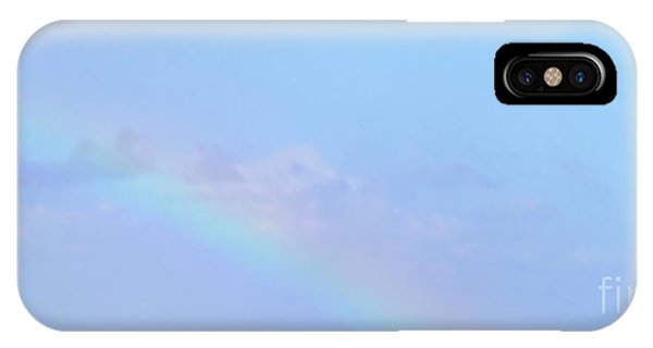 IPhone Case featuring the digital art Rainbow At The Beach 2 by Francesca Mackenney