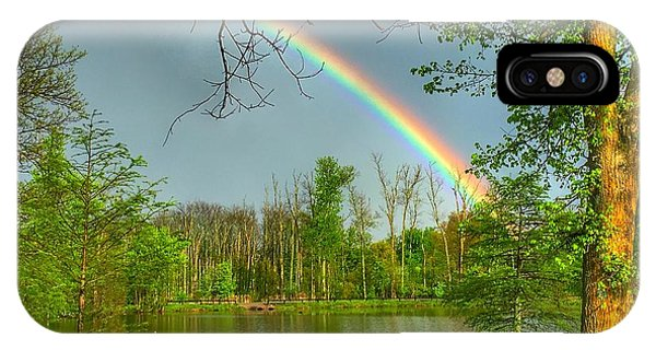 Rainbow At The Lake IPhone Case