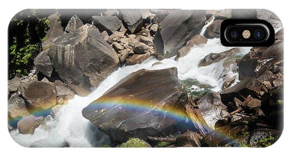 Rainbow At Vernal Falls- IPhone Case