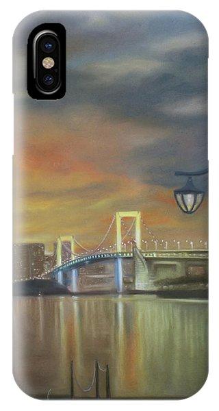 Odaiba iPhone Case - Rainbow Bridge by Fatima Miguel
