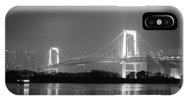 Odaiba iPhone Case - Rainbow Bridge by Irina Sato