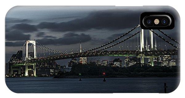 Odaiba iPhone Case - Rainbow Bridge- Odaiba- Japan by Marion Hartemann
