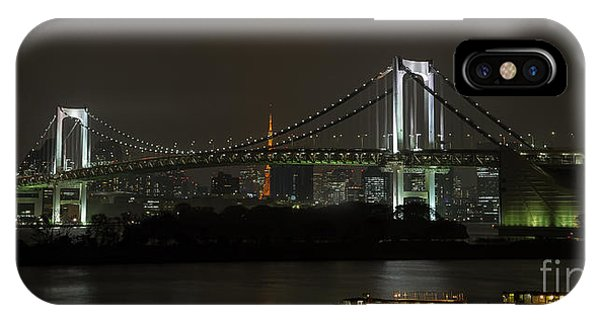 Odaiba iPhone Case - Rainbow Bridge- Tokyo by Rhonda Krause