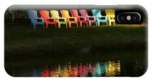 Rainbow Chairs  IPhone Case