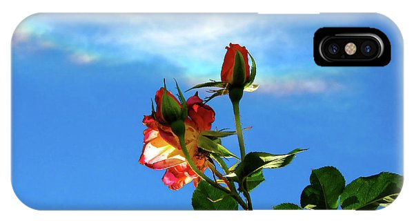 Rainbow Cloud And Sunlit Roses IPhone Case
