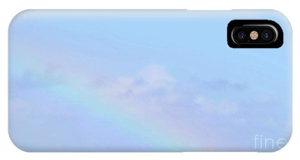 IPhone Case featuring the digital art Rainbow Clouds And Sky by Francesca Mackenney